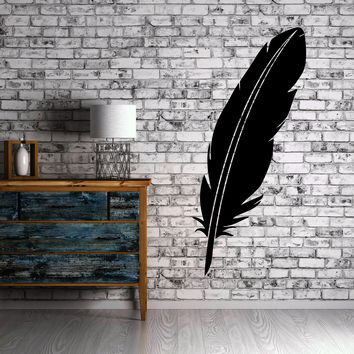 Feather Old School Writing Utensil Decor Wall Mural Vinyl Art Decal Sticker M505