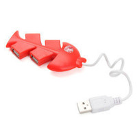 Little Fish Bone Hi-speed 4 Ports USB 2.0 Hub
