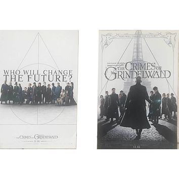 """Lot of 2 Movie Promo Posters The Crimes of Grindelwald 12x18"""""""