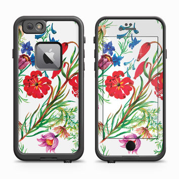 Vibrant Flower Waterpaint Skin for the Apple iPhone LifeProof Fre Case