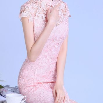 hot lace show body dress FOR WEDDING