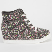 Roxy Alexa Womens Sneaker Wedges Black Combo  In Sizes