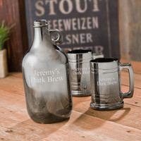 Gunmetal Beer Growler Set