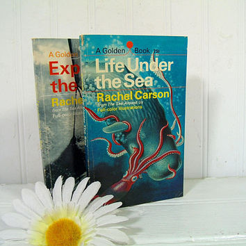 Life Under the Sea & Exploring the Sea from The Sea Around Us by Rachel Carson adapted by Anne Terry White - Set of 2 Paperback Golden Books