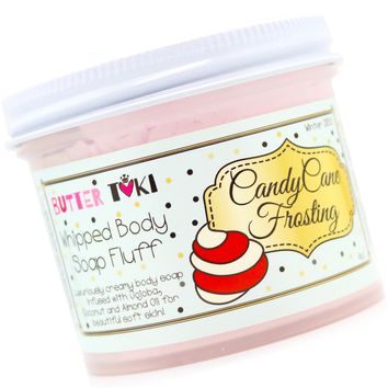 CANDY CANE FROSTING Whipped Body Soap Fluff Holiday Collection 2018