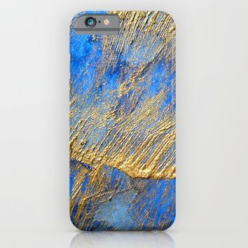 Blue and Gold iPhone & iPod Case by Haroulita | Society6
