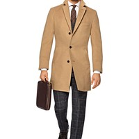 Light Brown Overcoat J407i | Suitsupply Online Store