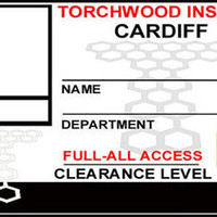 Torchwood id Badge Cardiff Institute Doctor Who Cards