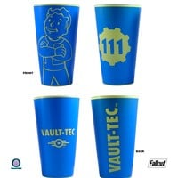 2-Pack GIFT SET 16oz OFFICIAL Fallout Vault Boy 111 Blue colored Pint Glass Novelty GIFT SET of 2-PACK