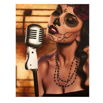 Black Market Art Company Mi Cancion Art Print by Artist Daniel Esparza