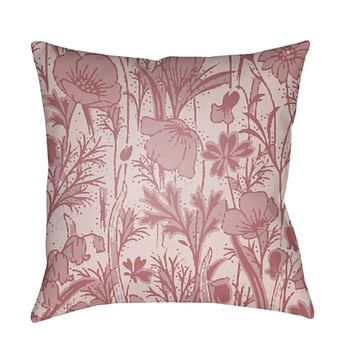 Chinoiserie Floral Pillow Cover - Pale Pink, Rose, Blush - CF029