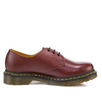 Dr Martens 1461   Cherry Red Smooth Lace Up Oxford
