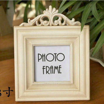 Retro Vintage Plain Beige Home Decoration Photo Frame Picture Frame Resin 3''