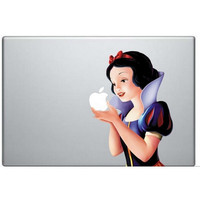 "Snow White Vinyl Personality Decal Sticker for MacBook Air Pro 13"" inch Protective Skin Shell for Apple Laptop Stickers"