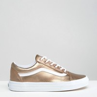Vans Exclusive Rose Gold Metallic Old Skool Trainers at asos.com