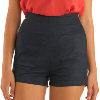 Yea or Navy Shorts | Mod Retro Vintage Shorts | ModCloth.com