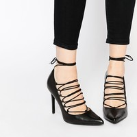 Mango Lace Up Court Shoe