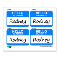 Rodney Hello My Name Is - Sheet of 4 Stickers