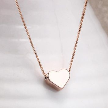 N219 Minimalist Clavicle Necklaces Women Bijoux Tiny Heart LOVE Necklaces Dainty Fashion Jewelry Beach Summer Collares