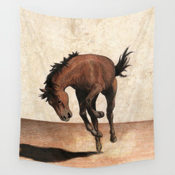 Cheval / Horse Wall Tapestry by Savousepate