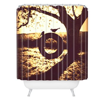 Shannon Clark Love At First Swing Shower Curtain