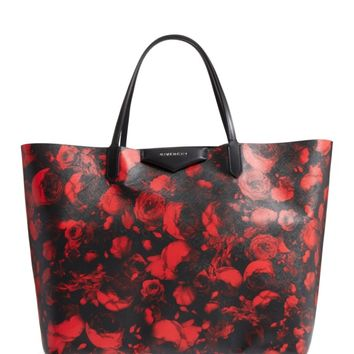 Givenchy Antigona Rose Print Coated Canvas Shopper | Nordstrom
