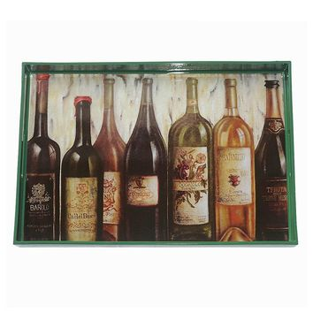 Boston Warehouse Wine Rectangle Serving Tray
