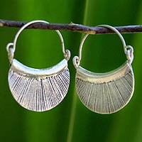 Silver hoop earrings, Diva