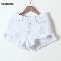 Fashion Tassel Cotton white Jeans for women XXXL Summer short jeans feminina Sexy Shorts High Waist Demin jeans denim shorts