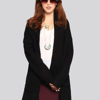 Soho Shawl Cardigan - Black - What's New | GYPSY WARRIOR