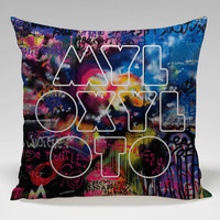 Coldplay Mylo Xyloto logo Square Pillow Case Custom Zippered Pillow Case one side and two side
