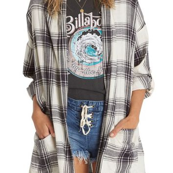 Billabong Live Out Loud Flannel Cardigan | Nordstrom