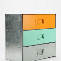 Industrial Colorblock Cabinet