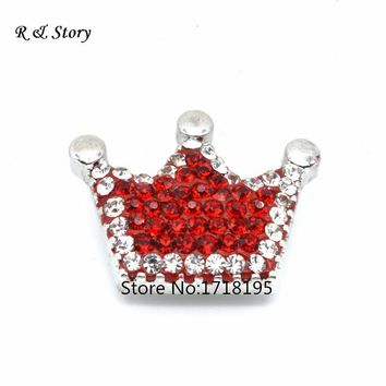 Crystal Crown Snap Buttons Jewelry DIY Charms Party Gift Fashion 2017