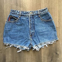 Vintage Bongo High Waisted Jean Shorts Size 1/2