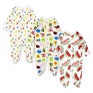 Newborn Romper Baby Girl Boy Babies Infant Toddler long sleeved 100%cotton 2/3 pieces Set 0-12 months Baby Clothes