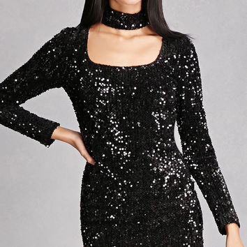 Girl In Mind Sequined Dress