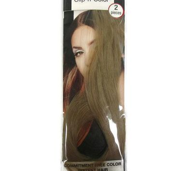 "MIA BEAUTY CLIP N COLOR HAIR EXTENSIONS 14"" 2 PIECES BLONDE NEW!"