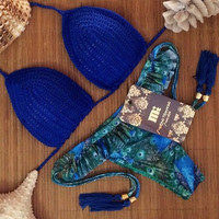 Swimwear Bikini 2015 Sexy maillot de bain Summer Beach Women Swimwear Bathing Suit Ladies Vintage Swimsuit Crochet Bikini = 1955892100
