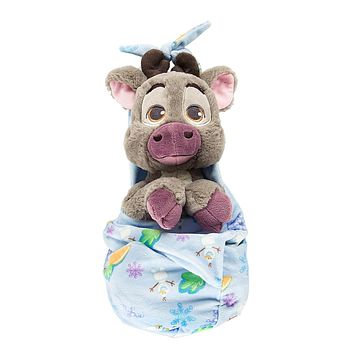 Disney Parks Baby Sven in a Blanket Pouch Plush New with Tags