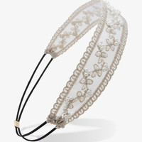 Pearlescent Embroidered Headwrap
