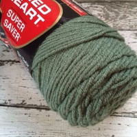 New Red Heart Super Saver Yarn Worsted Weight Light Sage Green 0631