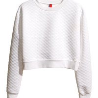 H&M - Cropped Sweatshirt -
