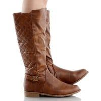 West Blvd Lahore Quilted Riding Boots