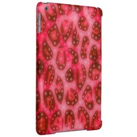 Red Pink Glowing Cheetah iPad Air Covers