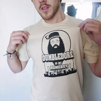 Dumbledore is my Homeboy men's SMALL in creme by evietees on Etsy