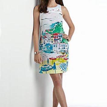 crown & ivy™ Amalfi Coast Sleeveless Shift Dress - Belk.co