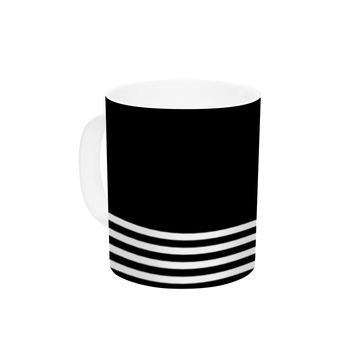 "Trebam ""Krizanje v2"" White Black Ceramic Coffee Mug"