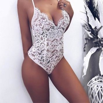 Jocelyn Lace Detailed Bodysuit