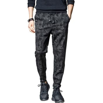 Spring Autumn Camouflage Jogger Pants Men Casual Slim Camo Black Sweatpants Harem Men Trousers